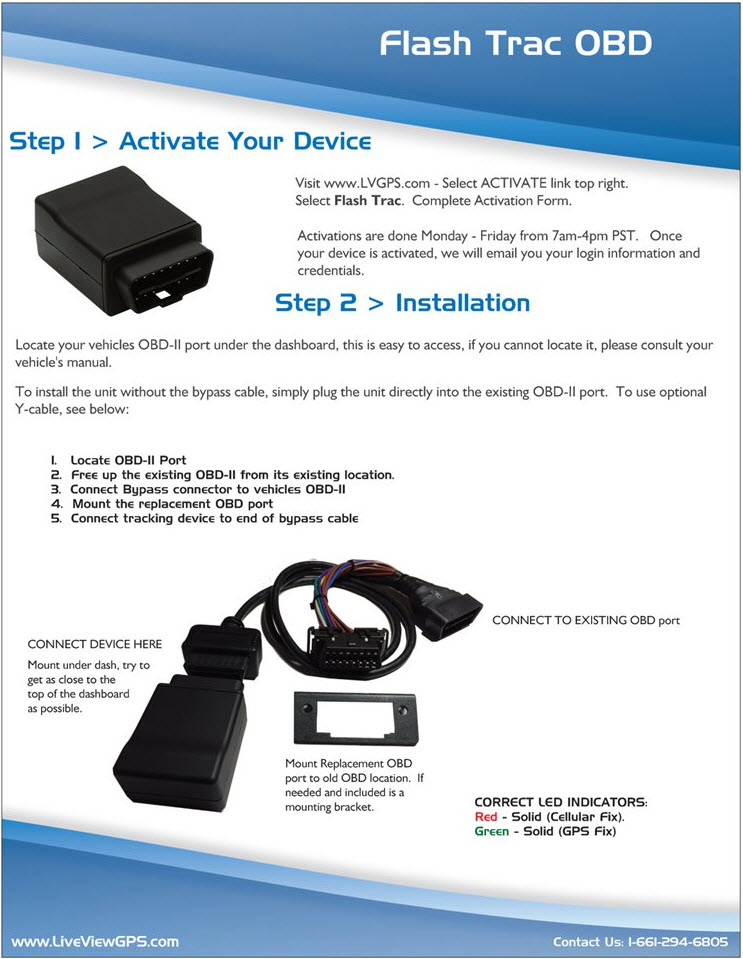 Flash Trac OBD Install Guide