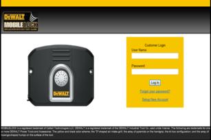 Mobilelock Demo Login Screen